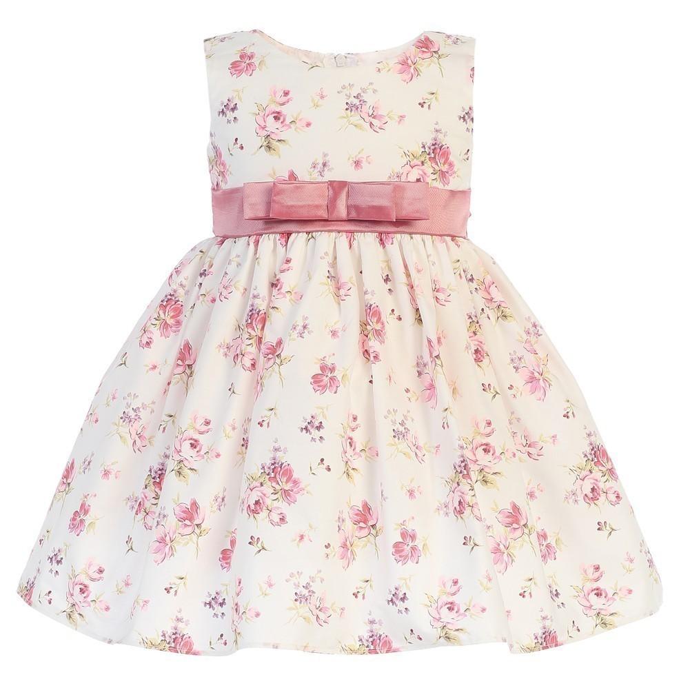 New Girls Burnout Squares Organza Coral Dress Toddler Kids Easter Wedding M732