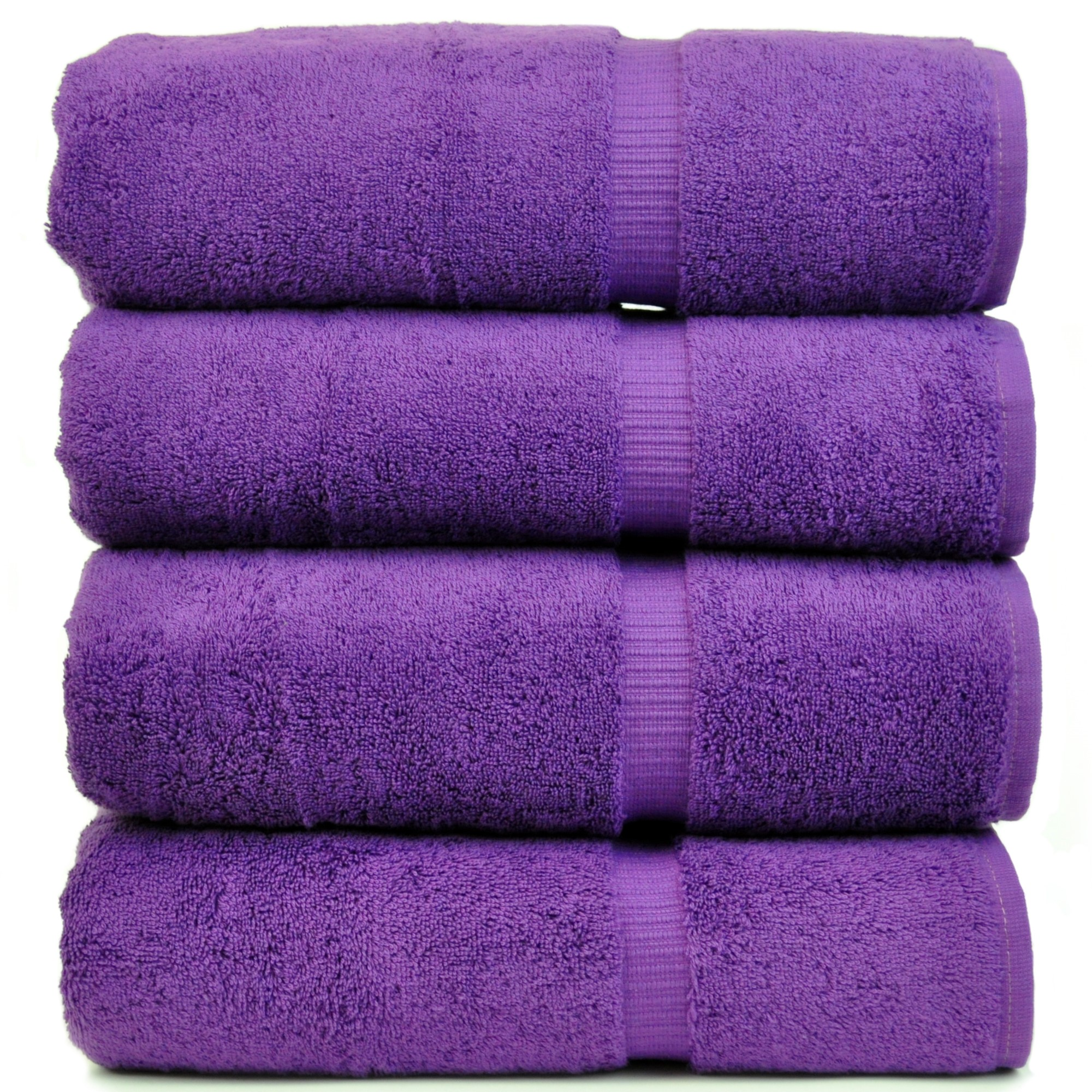 Chakir Linen Dobby Border Turkish Cotton Towel Set (Set of 4) by Chakir Linen