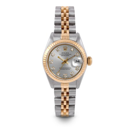 Pre Owned Rolex Datejust 6917 w/ Silver Diamond Dial 26mm Ladies Watch (Certified Authentic & Warranty Included)
