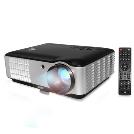 Hi Res Home Theater Multimedia Hd Projector  1080P Support  2800 Lumen Brightness  Usb Flash Reader  Ereader Text Projection Ability