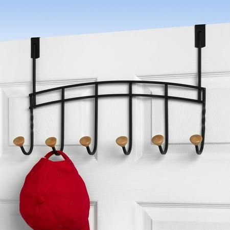Spectrum cambridge over the door 6 hook rack for 12 hook over the door coat rack