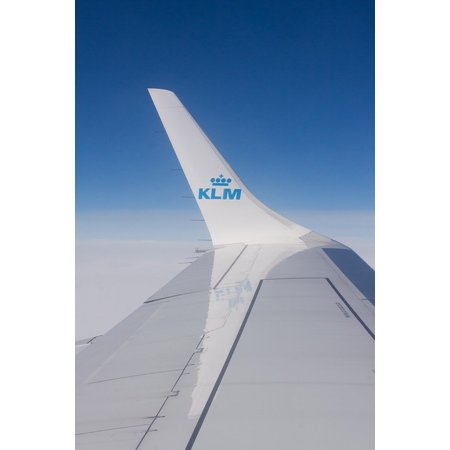 Canvas Print Transport Fly Airline Signet KLM Flight Wing Stretched Canvas 10 x
