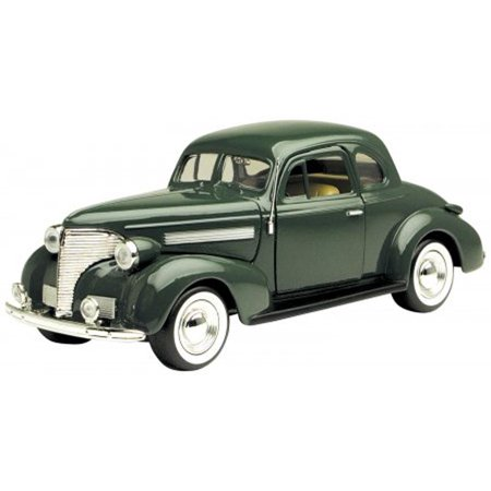 1939 Ford Coupe - 1939 Chevy Coupe, Green - Motormax 73247 -1/24 scale Diecast Model Toy Car