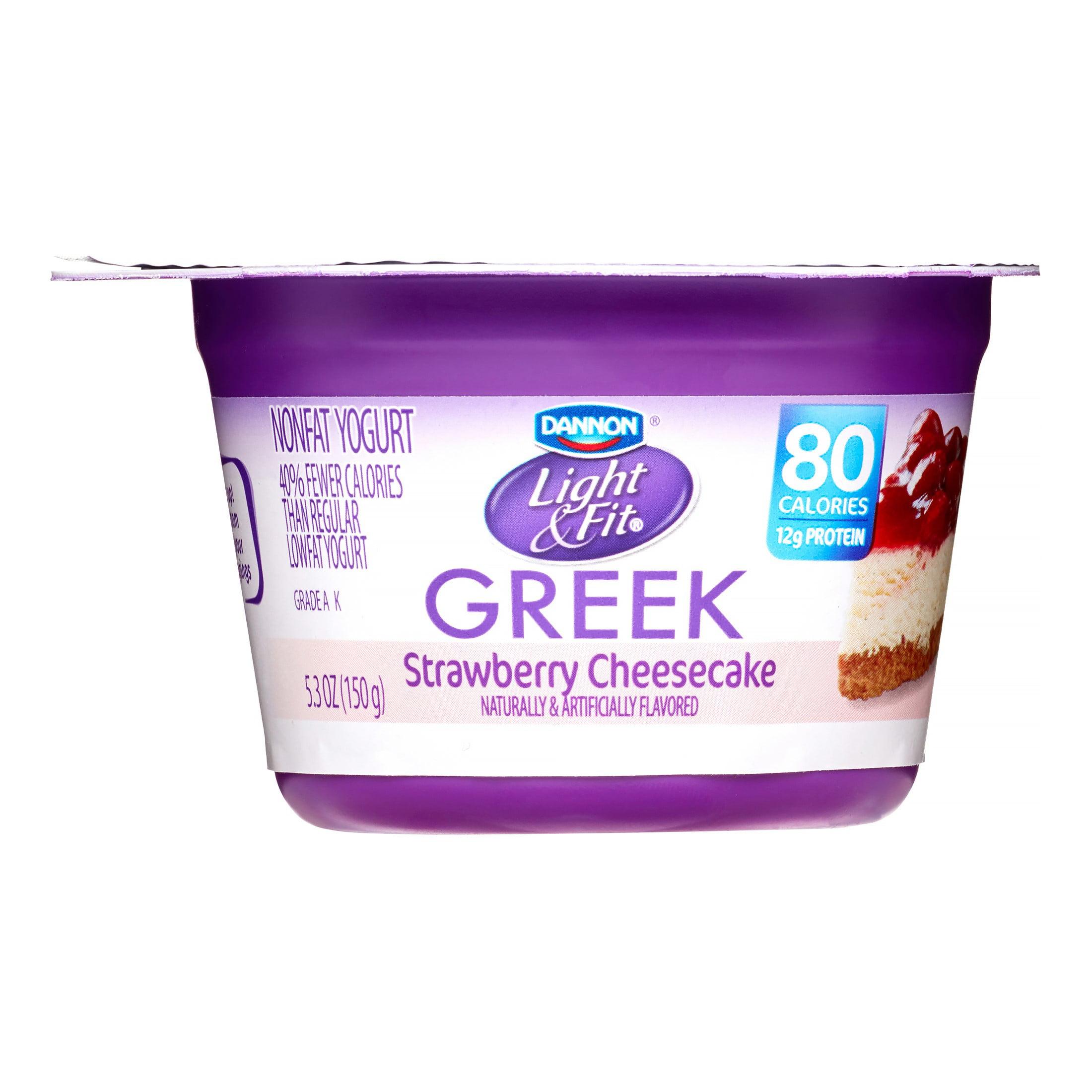 Dannon Light & Fit Strawberry Cheesecake Greek Nonfat Yogurt, 5.3 oz, 4 ct