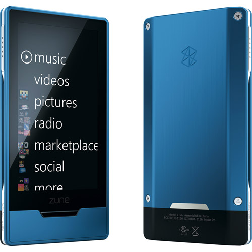 Zune HD 32GB MP3 Player, Sapphire Blue