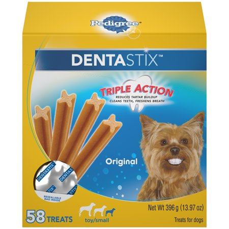 Dental Supply - Pedigree Dentastix Toy/Small Dental Dog Treats, Original, 13.97 Oz. Pack (58 Treats)