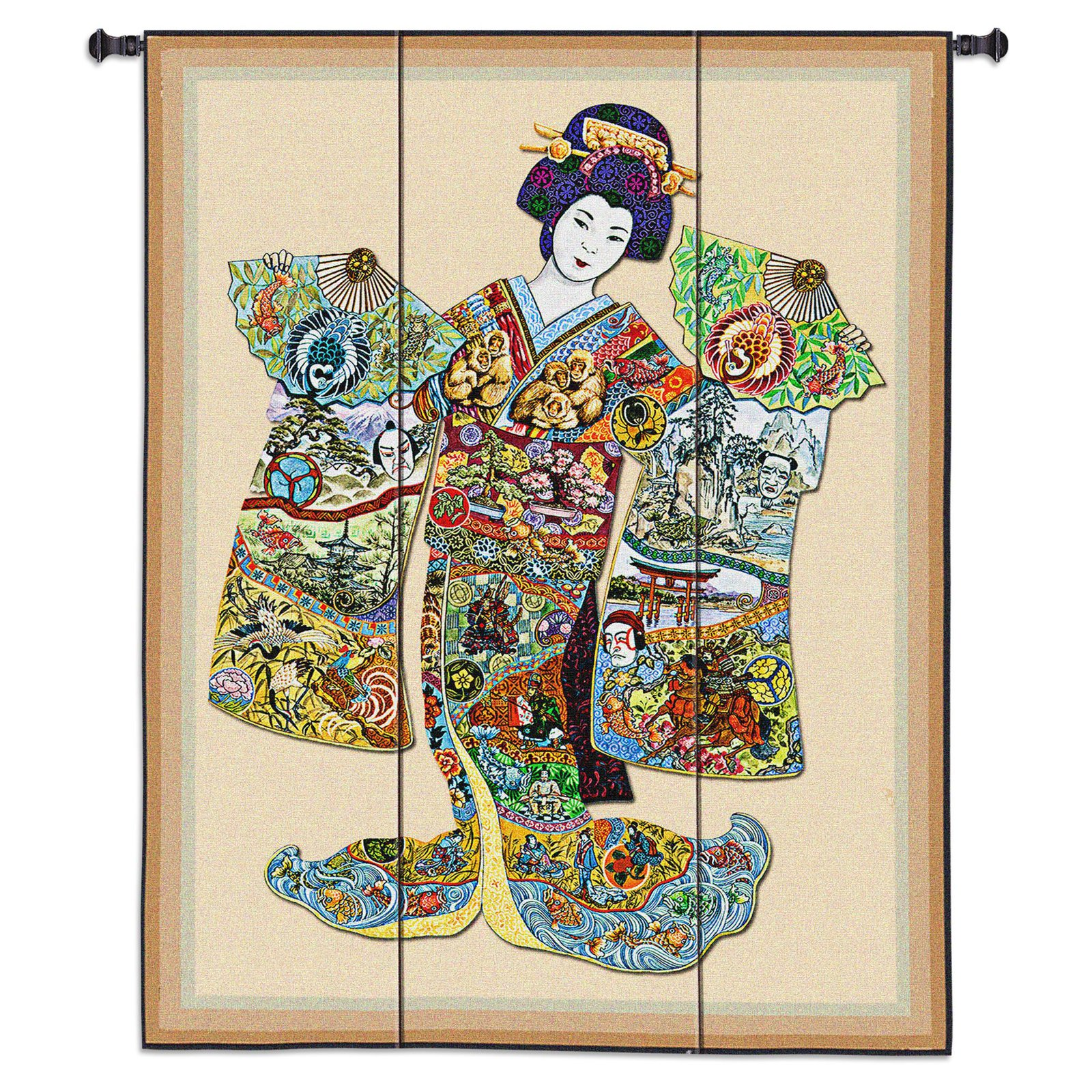 Fine Art Tapestries Geisha Wall Tapestry by Supplier Generic