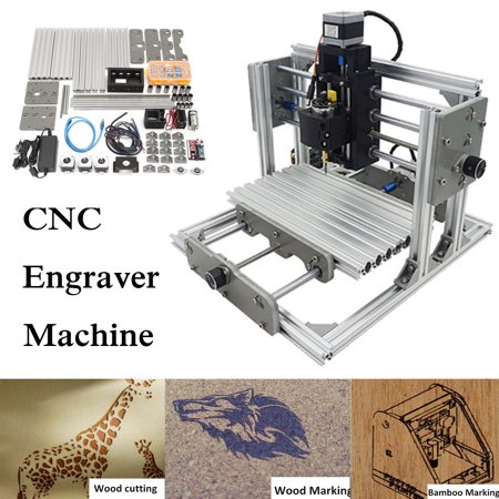 3 Axis DIY Mini Laser Engraver CNC Engraving Router Milling Machine Kit 24x17cm With 2500mw Laser