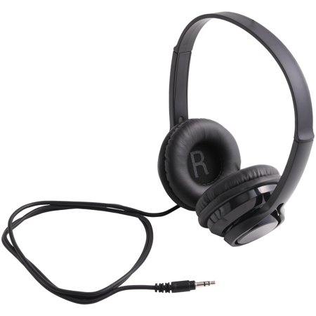 ONN On-Ear Bluetooth Headphones for Smartphones, Stereos and Computers, Black
