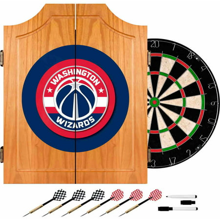 Washington Wizards Beveled Wood Dart Cabinet by