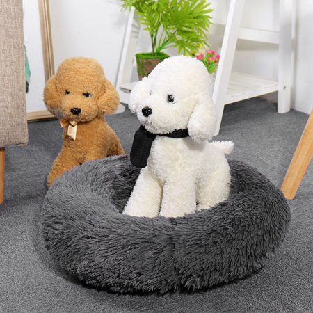 Pet Dog Puppy Bed Orthopedic Long Plush Soft Mattress Sleeping Nest House Pet Cushion for Dogs & Cats - Small