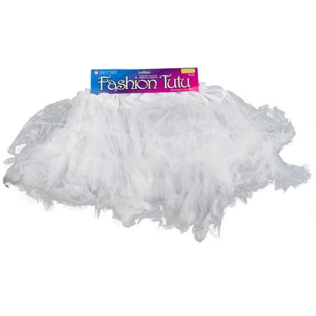 Star Power Princess Women Costume Petticoat Tutu Skirt, White, One-Size - Costume Petticoat
