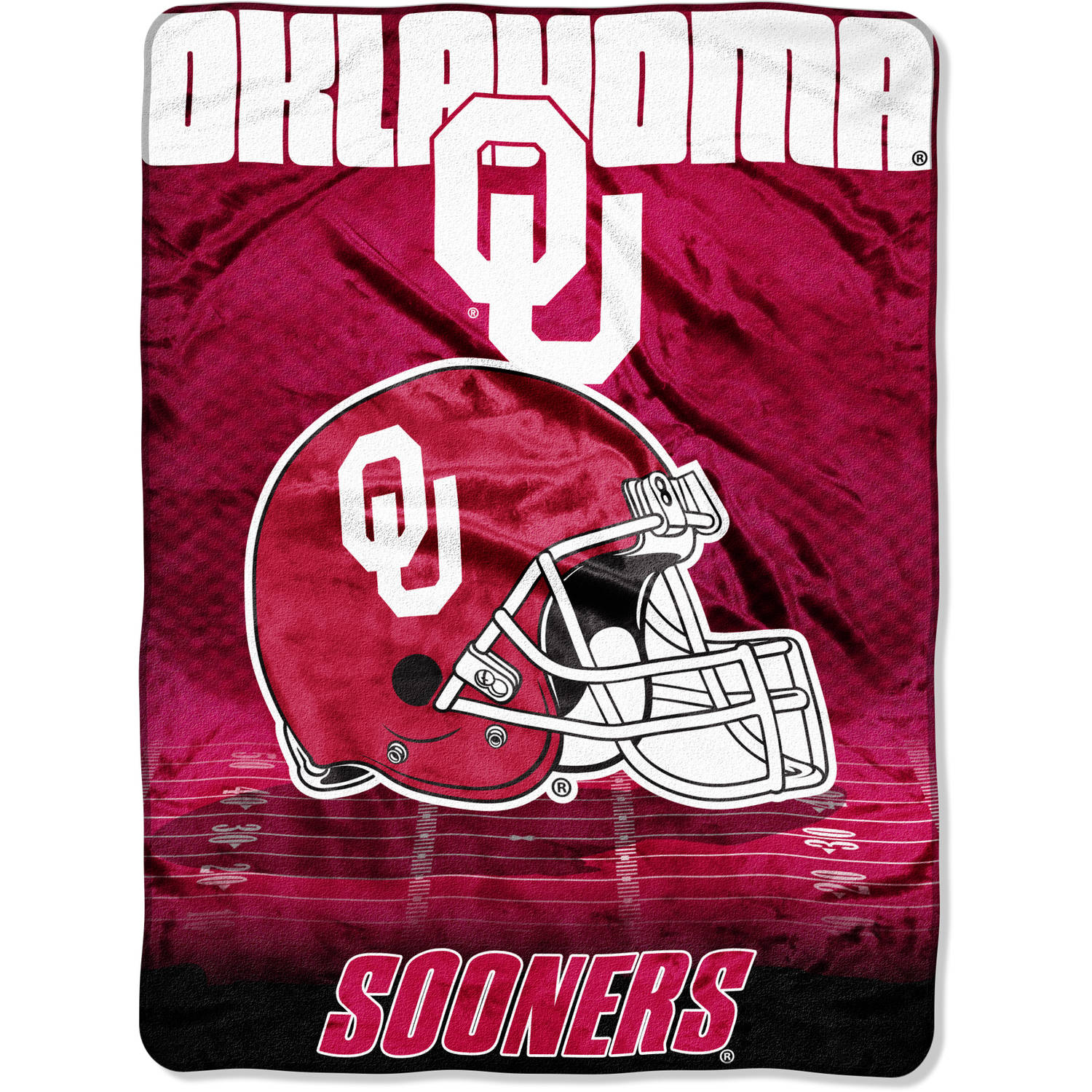 "NCAA Oklahoma Sooners 60"" x 80"" Oversized Micro Raschel Throw"