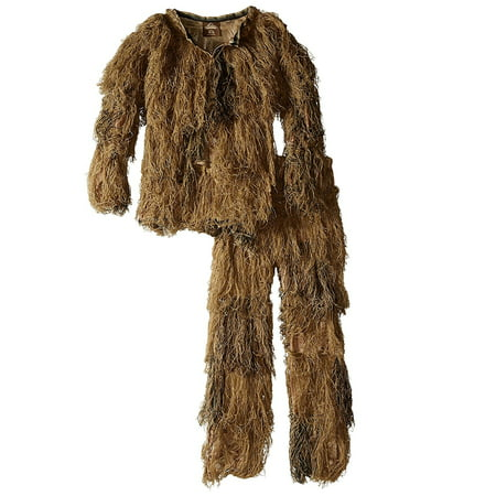 - Red Rock 5-Piece Ghillie Suit Desert Camo Youth Size 14-16