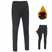 Electric Heated Warm Pants Women USB Heating Base Layer Elastic Trousers Ski