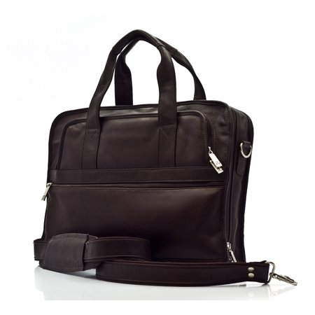 Colombian Leather Double Handle 15.6 Inch Computer Briefcase in