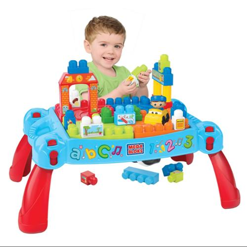 Mattel Mega Bloks First Builders Build 'n Learn Interactive Play Table