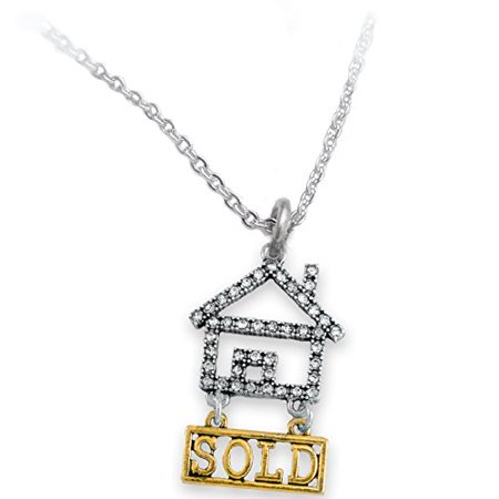 Real Estate Sold Crystal Necklace, Safe-Nickel, Lead, & Cadmium Free!