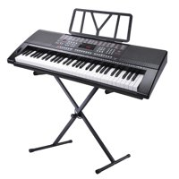 Yescom Electronic Piano Keyboard 61 Key Full Size Music with X Stand LCD Display USB Input MP3