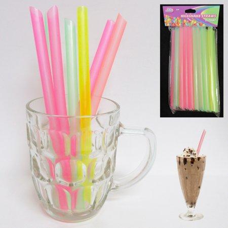 150 Milkshake Straws Jumbo Smoothie Drinking Party Neon Large Thick Straw Boba