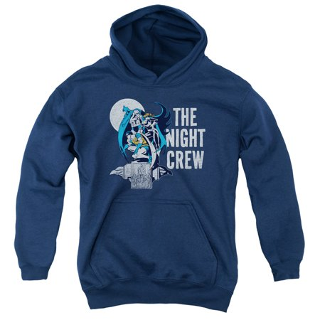 Dc - Night Crew - Youth Hooded Sweatshirt - Large