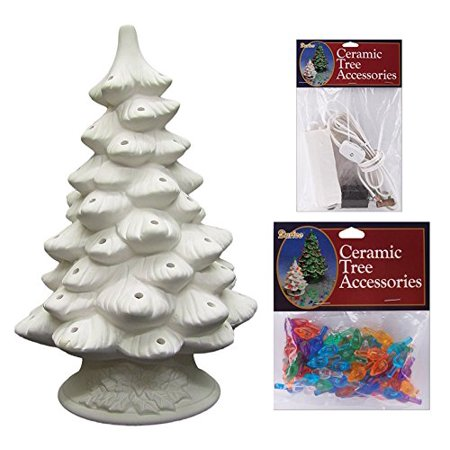 Diy Unfinished Ceramic Christmas Tree 11 4 Inch With