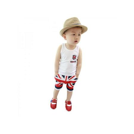 9916447a3d57 Ropalia - Ropalia Baby Boy Tops Vest + Shorts Pants Summer Beach ...