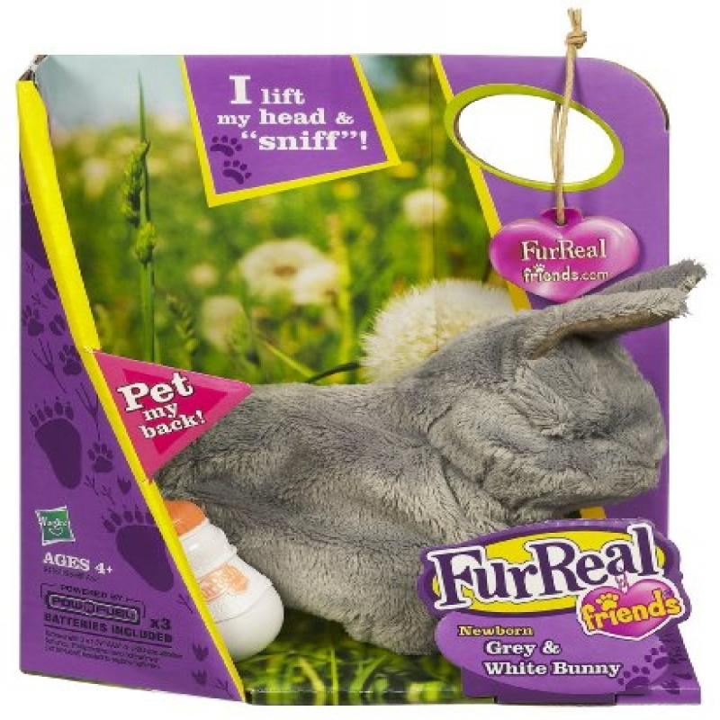 FurReal Friends Newborn Bunny Grey and White