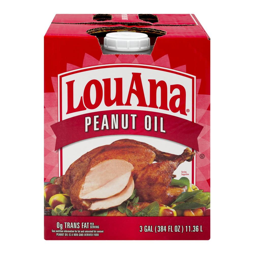 Pure Peanut Oil LouAna 3Gal Deep For Turkey Fryer Fries