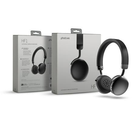 photive hf1 wireless bluetooth headphones on ear wireless bluetooth earphones with built in. Black Bedroom Furniture Sets. Home Design Ideas