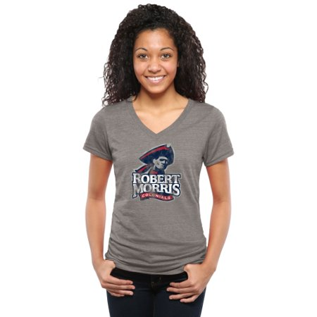 Robert Morris Colonials Women's Classic Primary Tri-Blend V-Neck T-Shirt - Gray