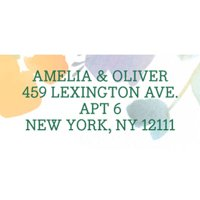 Artistic Floral Personalized Address Label