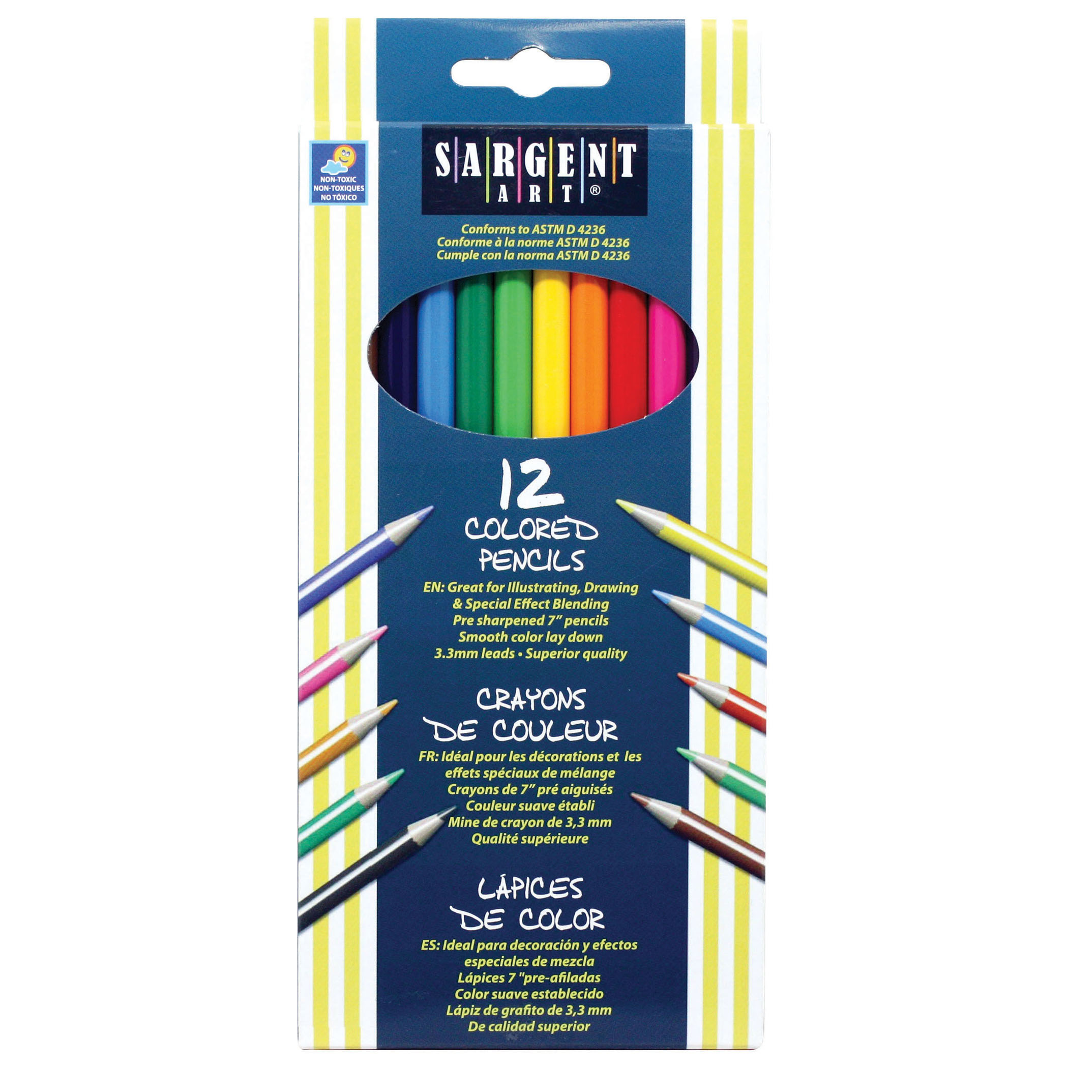 Sargent Art® Colored Pencils, 12 per pack, 12 packs