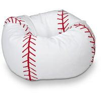 "ACEssential's 96"" Round Vinyl Bean Bag, Baseball"