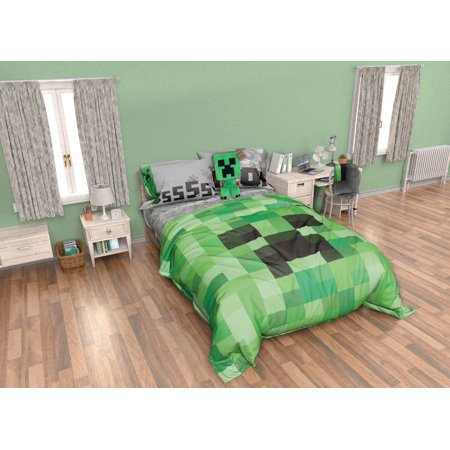 Minecraft Kid\'s 8 Piece Bedroom Set - Walmart.com
