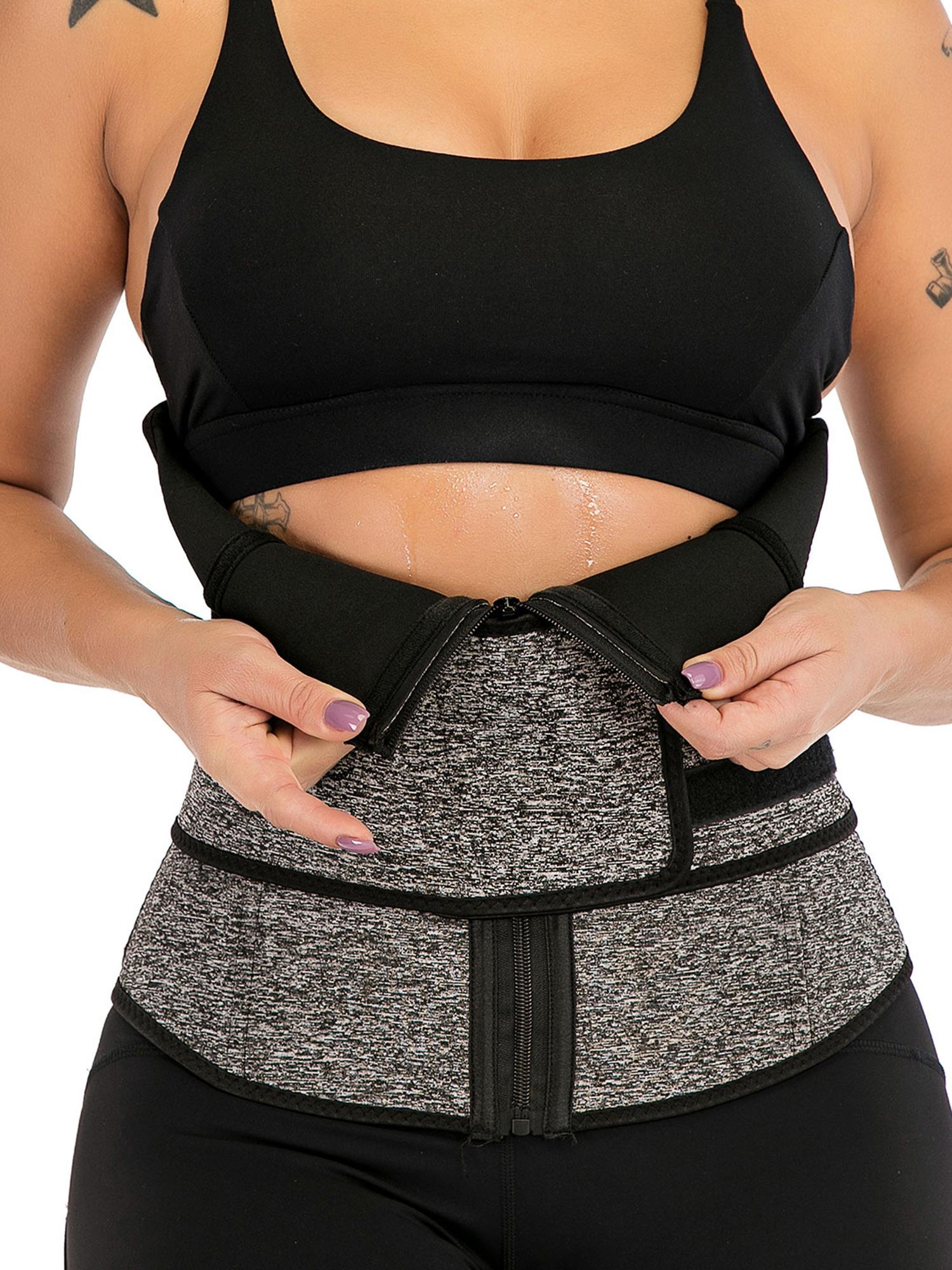 Women Waist Sweat Trainer Shaper Belt Band Body Sport Trimmer Vest Belly Yoga