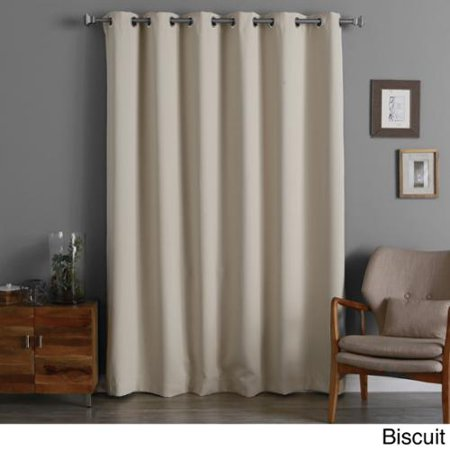 Aurora Home Wide Thermal Insulated 96 Inch Blackout Curtain Panel Biscuit