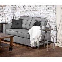 Furniture of America Tayson Upholstered Linen Loveseat in Blue