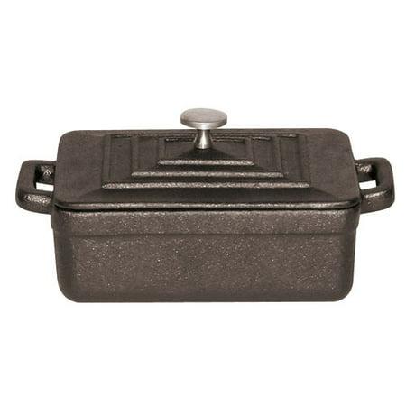 Paderno World Cuisine Black Rectangular Dutch Oven, w/Lid, L 5