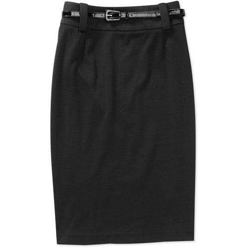 George Career Essentials Women's Belted Ponte Skirt