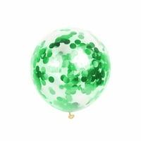 1Pc 12-inch Transparent Magic Latex Balloon Sequins Confetti Balloon Party Wedding Supplies
