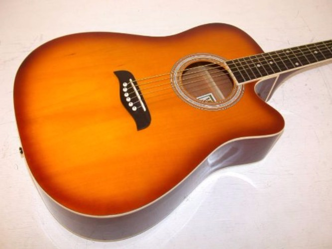 Oscar Schmidt OD45CTSPAK Acoustic Guitar Dreadnought Pack w bag Tobacco Sunburst by Oscar Schmidt
