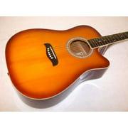 Oscar Schmidt OD45CTSPAK  Acoustic Guitar Dreadnought Pack w/bag - Tobacco Sunburst