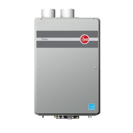 Rheem RTGH-95DVLN Prestige Indoor Direct Vent Low Nox Natural Gas Condensing Tankless Water Heater for 3 Bathroom Homes