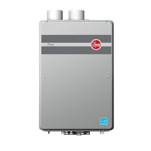 rheem rtgh95dvln prestige indoor direct vent low nox natural gas condensing tankless water heater