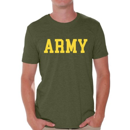 Awkward Styles Army Shirt for Men Military Gifts for Him Army T Shirt Army Training Tshirt for Men Workout Clothes Military