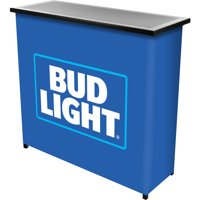 Bud Light Metal 2-Shelf Portable Bar Table with Carrying Case