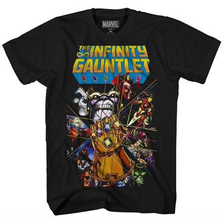 Thanos Avengers Infinity War Gauntlet Hulk Spider-Man Iron Man Strange Adult Men's Graphic Tee T-Shirt Apparel Strange Brew T-shirt