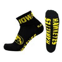 Iowa Hawkeyes Black Quarter Sock