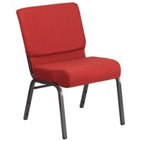 Flash Furniture HERCULES Series 21'' Extra Wide Fabric Stacking Church Chair with 4'' Thick Seat-Frame, Multiple Colors